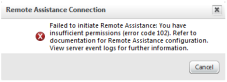 Remote Assistance Connection issue