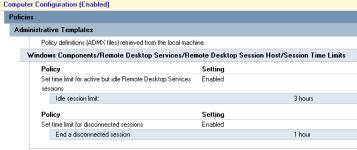 GPO Session settings