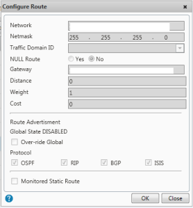 TFTP Route SNIP