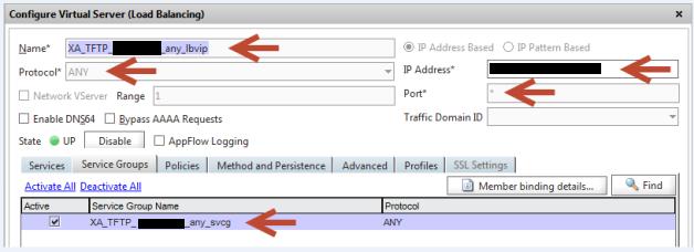 TFTP Service bind