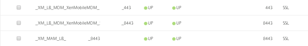 XenMobile SSL Offload VIPs