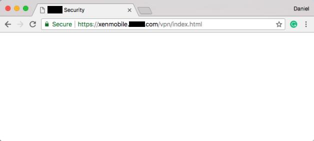 XenMobile NetScaler Blank Page